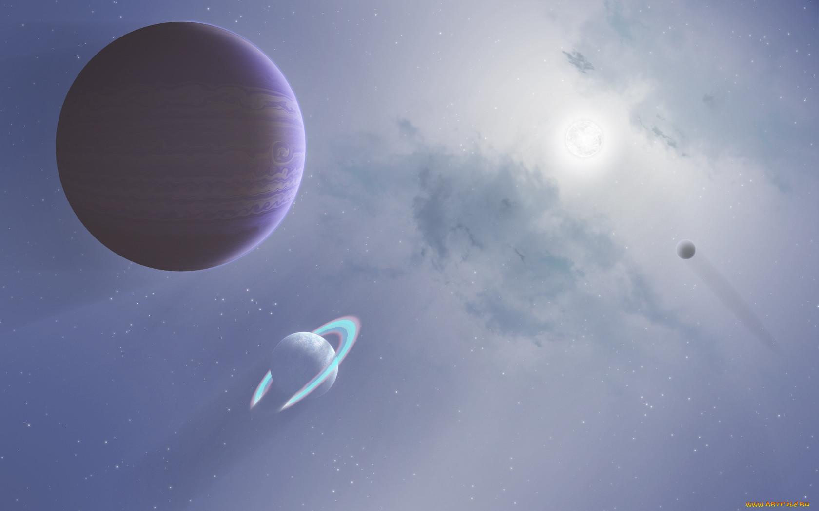 космос, арт, планеты